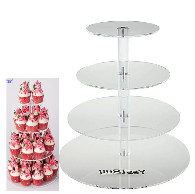 4 tier maypole round wedding party tree
