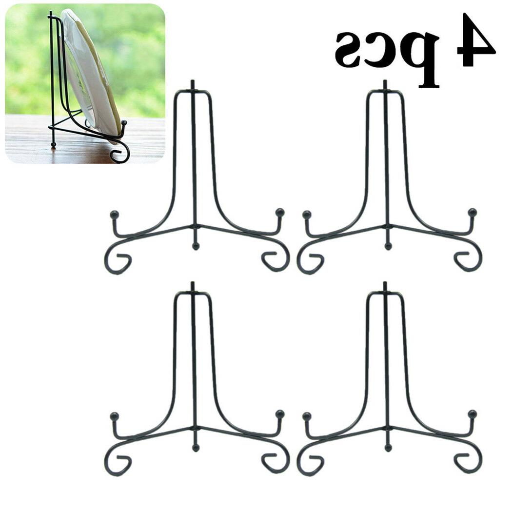 4pcs iron display stand art plate easel