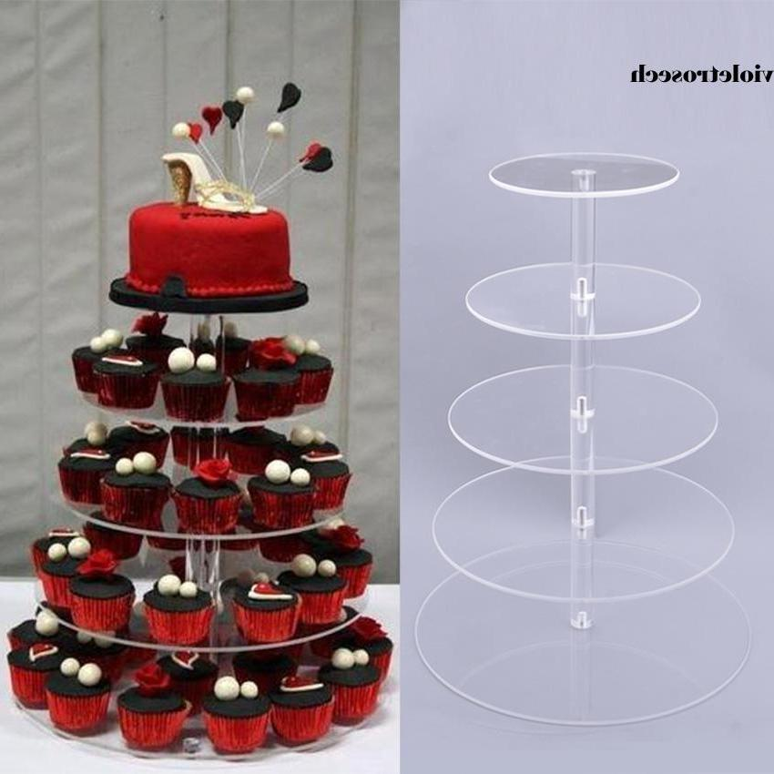 5/7 Tiers Acrylic Stand Tower Cake