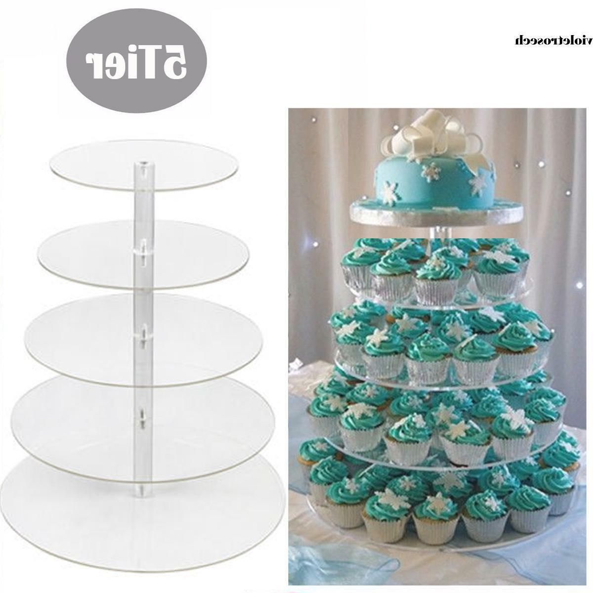 5 7 tiers acrylic cupcake stand toppers