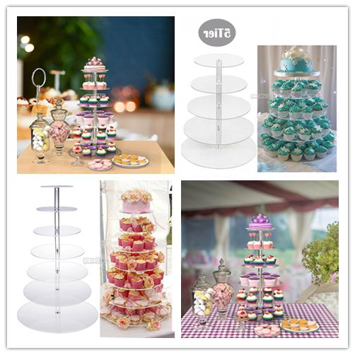 5 Tier Acrylic CupCake Stand Toppers Tower Display Cake Stan