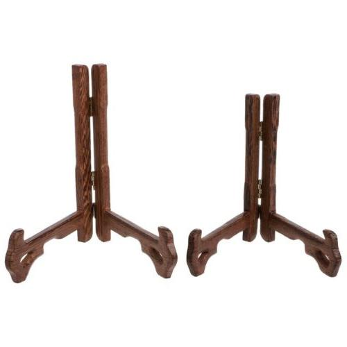 5 Inch 6 Inch Tall Wood Display Stand Holder Easels For Plat