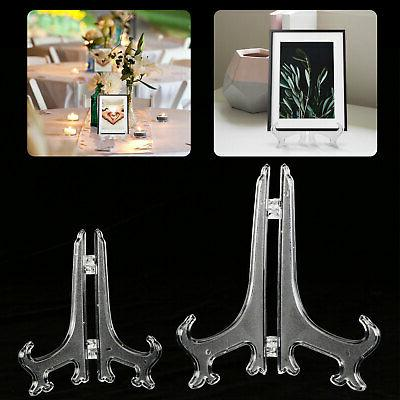 5 pack clear display easel stand plate