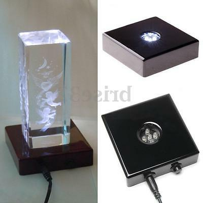 5 White Stand Crystal Display Adapter Trophy Laser