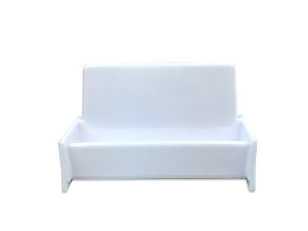 1pc White Acrylic Business Card Holder Display Stand for Off