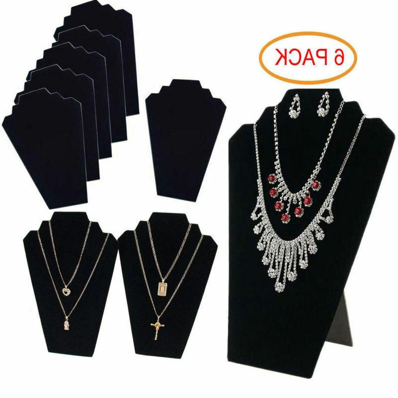 6 pieces necklace jewelry display stand black