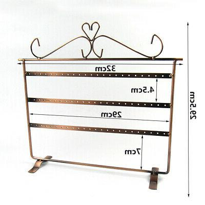 72 Earring Necklace Rack Stand