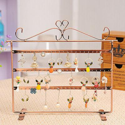 72 Holes Necklace Display Rack Metal Stand
