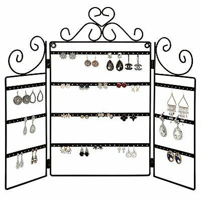 MyGift 72 Pair Earring Organizer Stand, Wall Mount Jewelry D