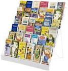 Displays2go Wire Countertop Literature Rack, 6-Tier Brochure