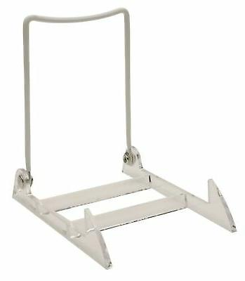 GIBSON HOLDERS 3PL Display Stand with Clear Base, Large, Whi