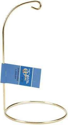 "Gold Metal Ornament Stand 7""-"