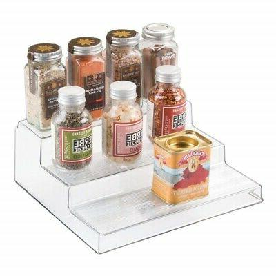 InterDesign Linus Cabinet Rack Organizer 3tier Clear Counter