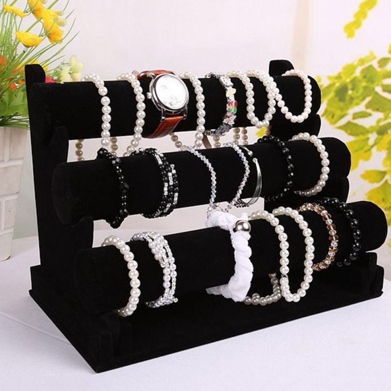 Jewelry Bracelet Holder Display Black