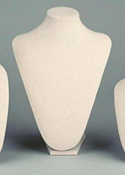 Large Cream Linen Table Top Bust Mannequin Jewelry Display R