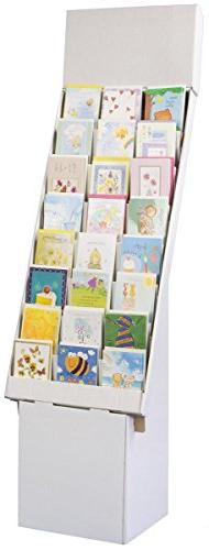 Set of 3, Greeting Card Rack with 8 Display Tiers, Removable
