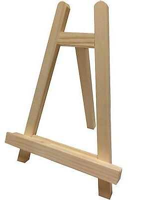 "Small 10"" Tabletop Wood Easel Mini Tripod Holder Display Sta"