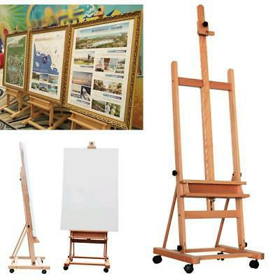 Stand Floor Easel w/Display Drawing Wooden Height Adjustable