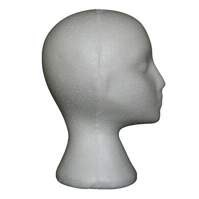 Abstract Foam Head Model Wig Glasses Display Stand