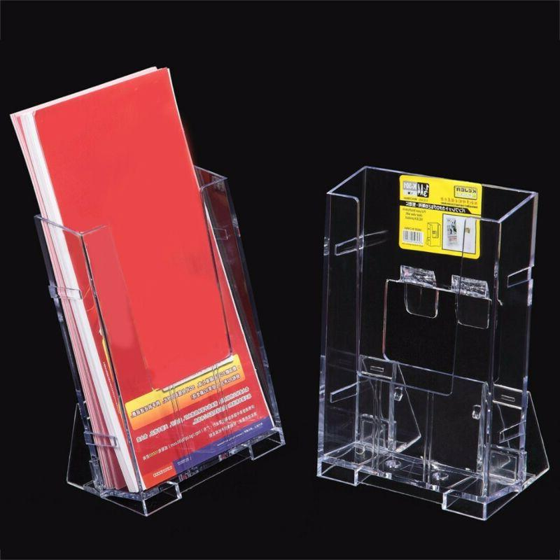 Acrylic Clear Business Card Holder Brochure Desk Stand Pamph