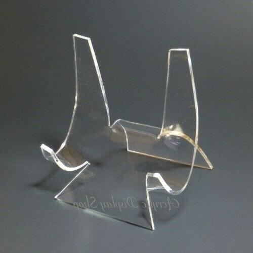 acrylic curved plate display stand easel 4