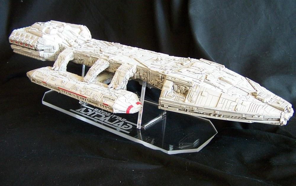 acrylic display stand for Moebius Battlestar Galactica model