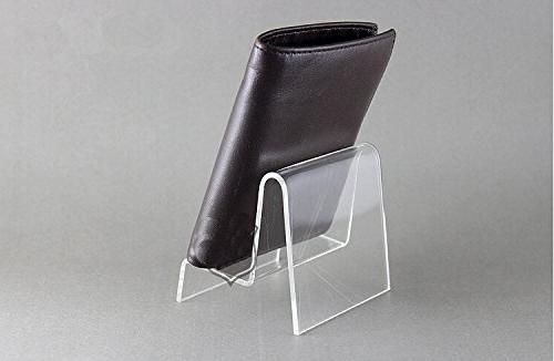 acrylic display stand wallet purse