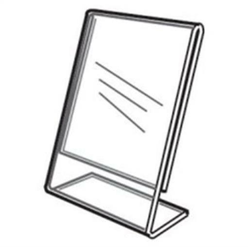 Acrylic Slanted Counter Sign Photo Display Holder Stand 8.5