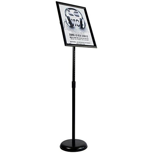 T-Sign Pedestal Stand 17 Inches Graphics, Both Vertical and View Sign Displayed – Black, Base