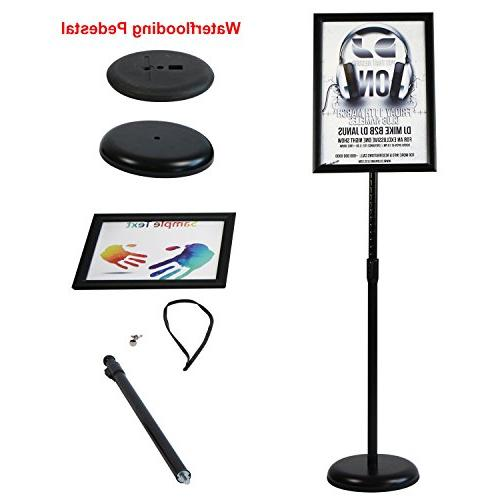 T-Sign Stand Aluminum Open Frame For 17 Inches Vertical Sign – Black, Round