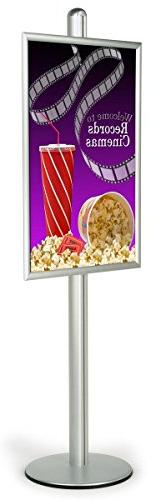 Aluminum Poster Stand Displays 24 x 36-Inch Graphics, Free-S