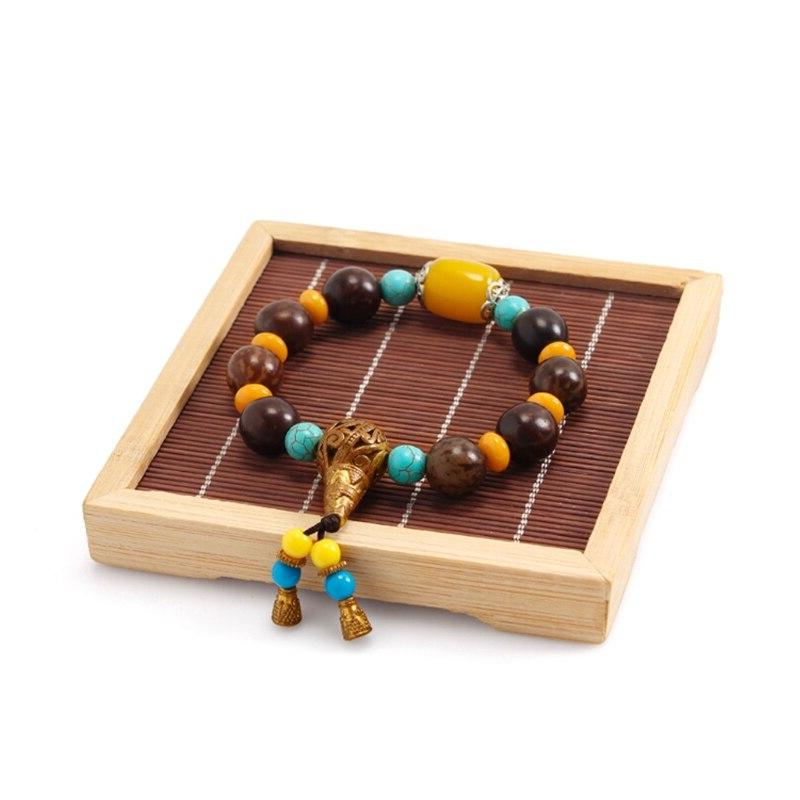 Bamboo Wooden Necklace Jewelry <font><b>Display</b></font> Holder Showcase Charm Boutique Decoration
