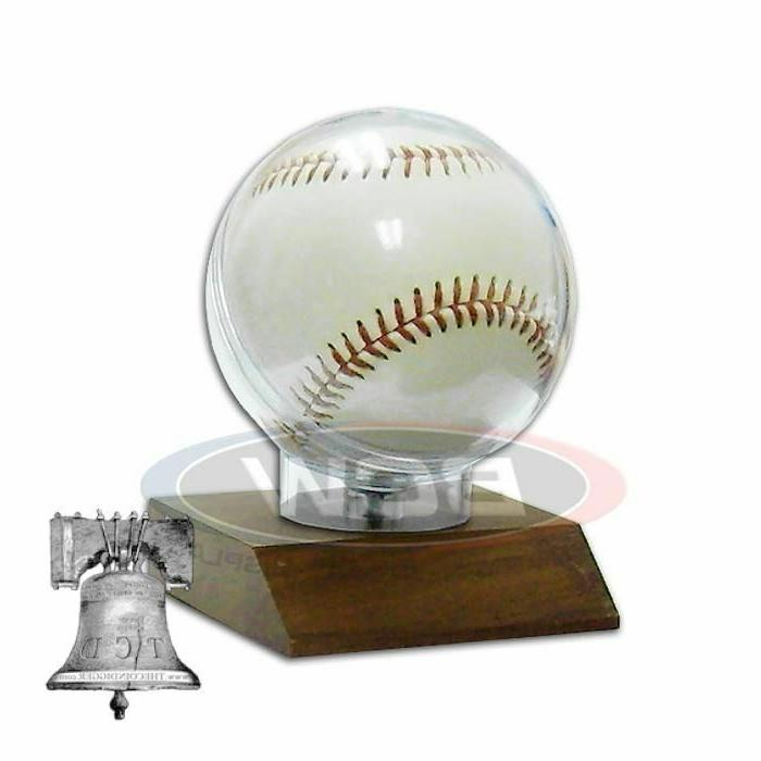 Baseball Holder Wood Display Stand Team Plaque 3x3