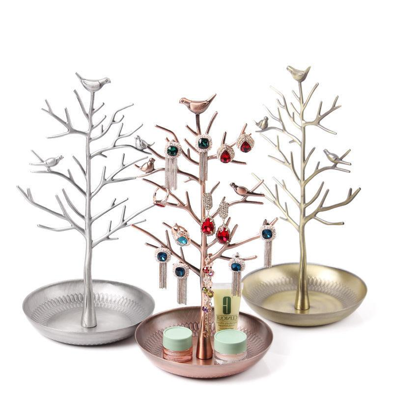 Birds Tree Jewelry Stand Display Earring Necklace Holder Org