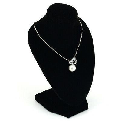Black Necklace Jewelry Pendant Display Show Decoration