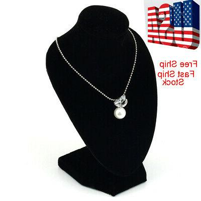 black mannequin necklace jewelry display stand holder