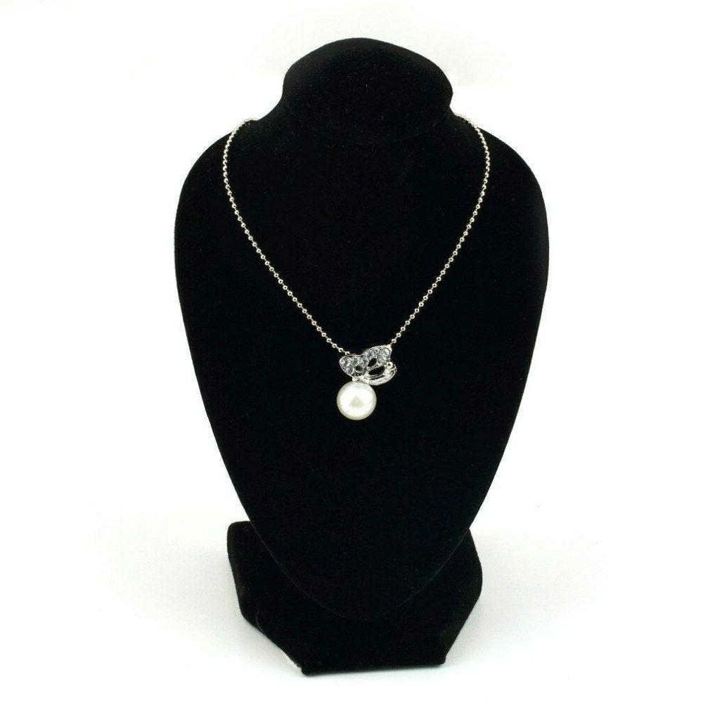 Black Necklace Bust Pendant Display Stand