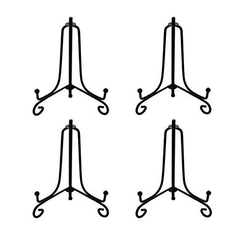 Hinged Easels BANBERRY DESIGNS 3 Black Plastic Easel Curved Folding Stands Pack of 20 Display Easels