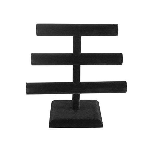 Super Z Black Velvet Necklace Jewelry Display Stand for