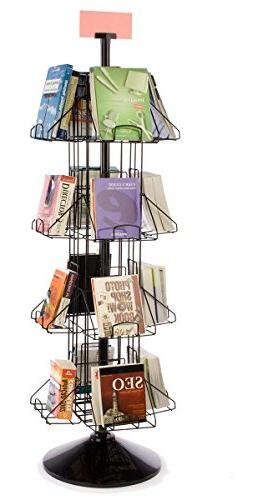 """Displays2go, 69.3""""h Wire Rotating Book Rack,  9"""" x 12"""" P"""