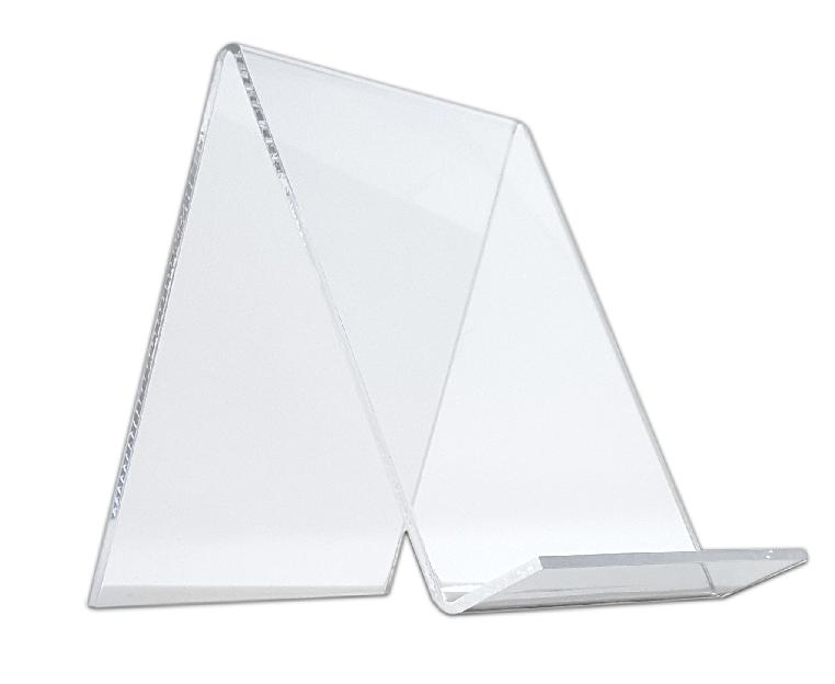 clear acrylic book easel or flat item