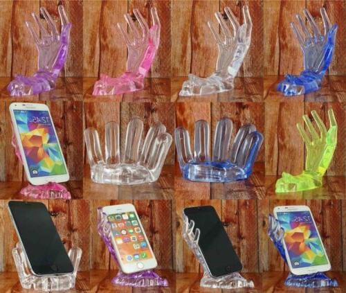 clear lady hand man hand cellphone mount