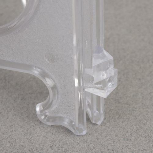"""4"""" Clear Plastic Plate Easel"""