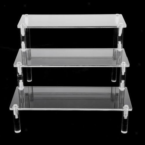 Deluxe Acrylic Stand Removable Rack for Model Figures 3 Tier
