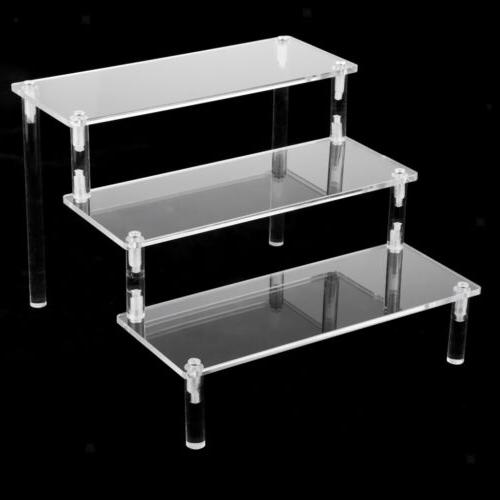 deluxe acrylic display stand removable rack