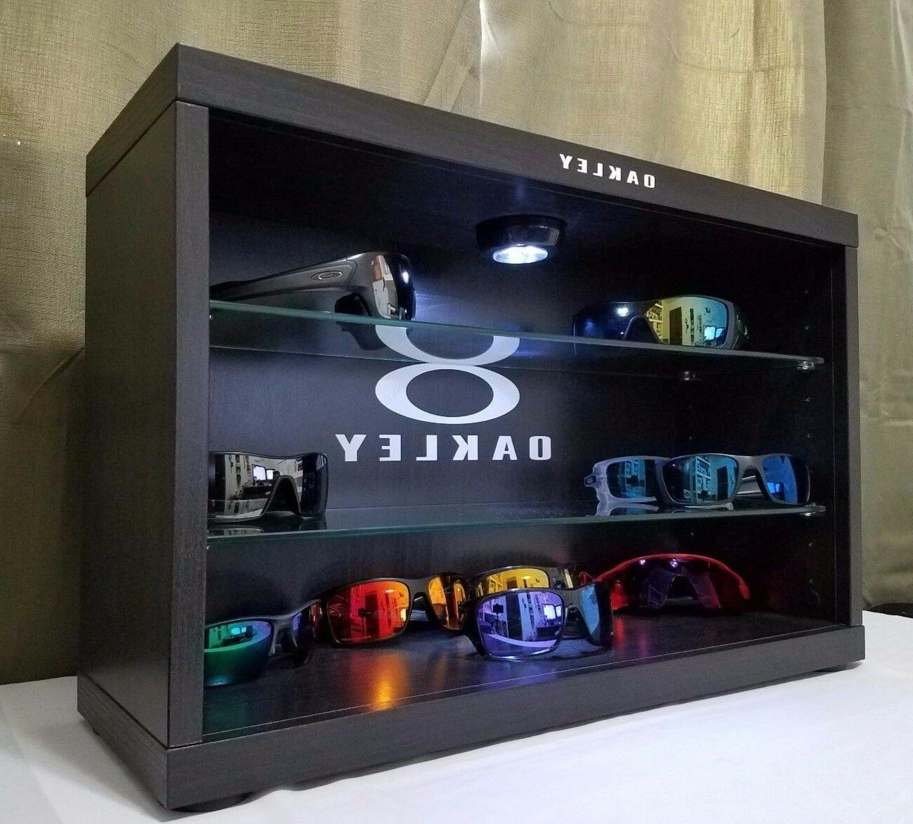 Deluxe LED Oakley Sunglasses Display Case Stand Counter Top
