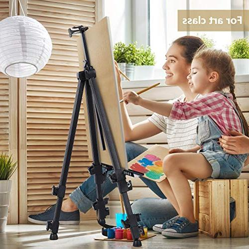 """Display Easel 72"""" Aluminum Metal Field with for Art from Poster, Paint"""