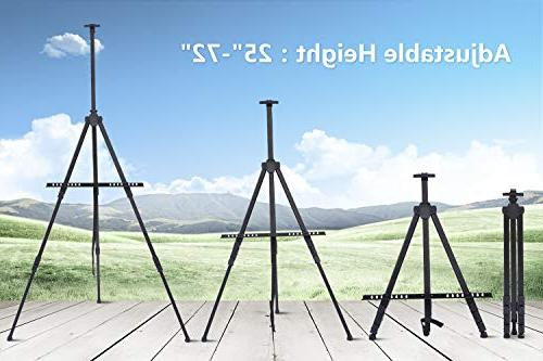 """Display 72"""" Field Easel with for 2-Pack Black Art Height from 25-72"""" Paint to School"""