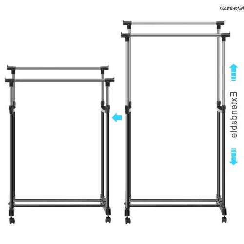 Double Clothes Coat Hanging Display Stand