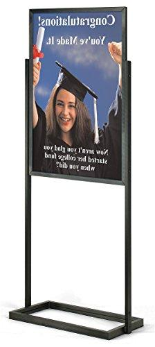 Displays2go Double-Sided Poster Display Stand for 24 x 36 In